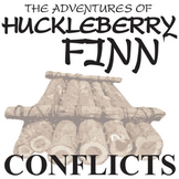 HUCK FINN Conflict Graphic Organizer - 6 Types of Conflict