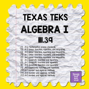 111.39 ALGEBRA I TEKS