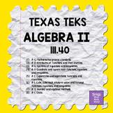 111.40 ALGEBRA II TEKS