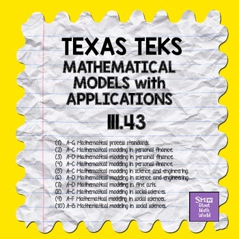 MATHEMATICAL MODELS With APPLICATIONS TEKS