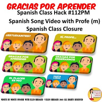 112 Spanish Class Video Gracias Por Aprender for Spanish Class Closure Profe M