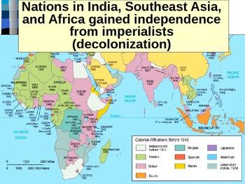 UNIT 14 LESSON 2 Decolonization of Africa and India POWERPOINT  TpT