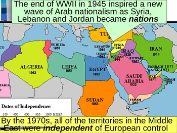 UNIT 14 LESSON 3. 20th Century Middle East and Age of Terrorism POWERPOINT