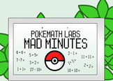114 PokeMath Mad Minutes: Addition, Subtraction, Mixed Operation Pages