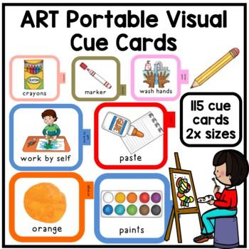 115 Art class portable communication visual cues. Autism. Speech. Social skills