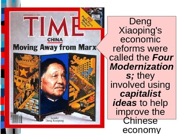 World Unit 14 Lesson 4 China After Mao Powerpoint Tpt