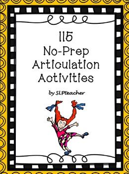 115 No-Prep Articulation Activities