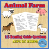 115 Study Guide Questions for Animal Farm - Answer Key Included!