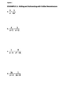 11.6 Adding and Subtracting Rational Expressions (1)