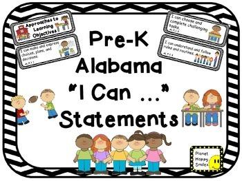 "117 Alabama Pre-K ""I can …"" Statements"