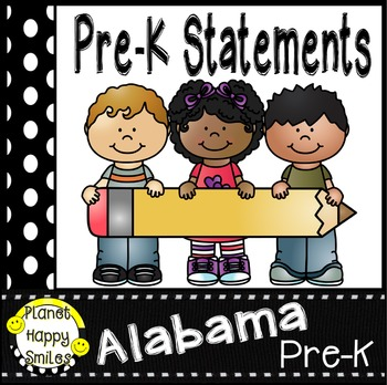 "117 Alabama Pre-K ""I can …"" Statements"