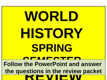 UNIT 14 LESSON 6. World History Spring Final Exam Review POWERPOINT