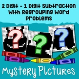 Math Color By Number Subtract 1 Digit From 2 Digit Story Problem Mystery Picture