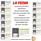 118 Musical LA FECHA Transition Video with authentic calen
