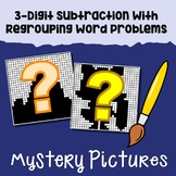 Word Problems On Regrouping Subtraction 3 Digit Color By Number Mystery Pictures