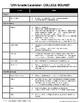 11th-12th Grade College Checklist/Calendar - High School SPED