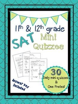 11th & 12th Grade SAT Prep Mini Quizzes