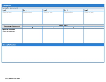 11th-12th Grades Common Core Interactive ELA Lesson Plan Templates