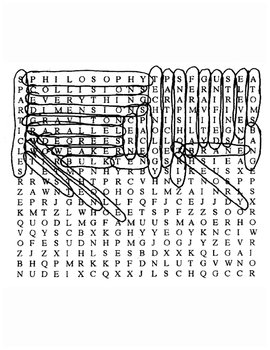 11th Dimension Word Search with Key