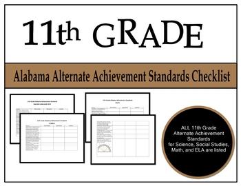 11th Grade Alabama Alternate Achievement Standards Checklist