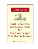 11th Grade Novel Unit + Lesson Plans   The Five People You Meet in Heaven
