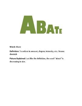 11th Grade Vocabulary Visual Aids