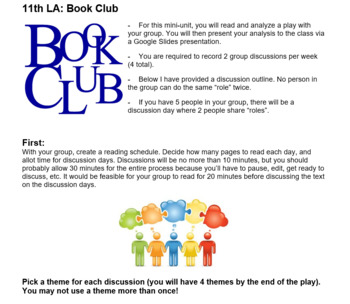 11th LA: Literature Circles Unit with American Plays