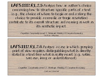 11th and 12th LAFS Standards Cards