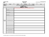 11th and/or 12th Grade Common Core Weekly Lesson Plan Template w Drop Down Lists