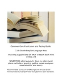 11th grade CCSS and Pacing Guide with 21 Editable Lesson Plans and Activities!