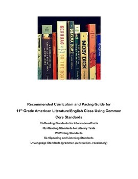 11th grade Lang Arts Curriculum/Pacing Guide - Common Core Standards