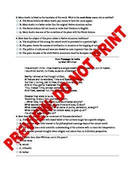 11th/12th Grade CCSS American Literature Assessment