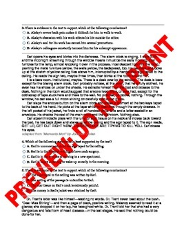 11th/12th Grade Citing Text Based Evidence CCSS Assessment