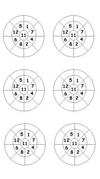 11x Multiplication Wheels