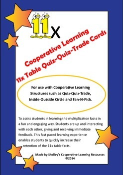 Quiz Quiz Trade 11x Times Table Cards