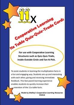 Quiz Quiz Trade 11x Times Table Cards