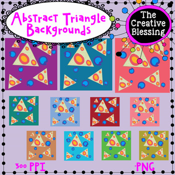 11x11 Abstract Triangle Backgrounds/ Digital Paper