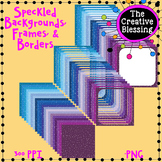 11x11 Speckled Covers, Frames, and Borders BUNDLE