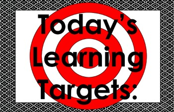 11x17 Brooklyn Daily Learning Targets Bulletin Board Set