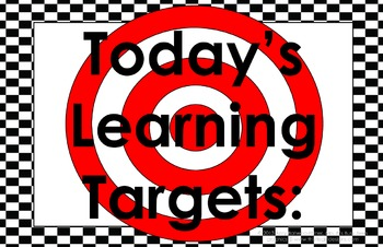 11x17 Checkerboard Daily Learning Targets Bulletin Board Set