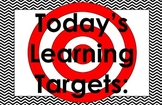 11x17 Chevron Daily Learning Targets Bulletin Board Set