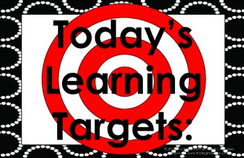 11x17 Dotted Circles Daily Learning Targets Bulletin Board Set