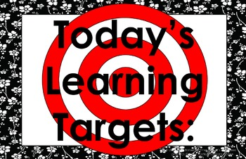 11x17 Floral Daily Learning Targets Bulletin Board Set