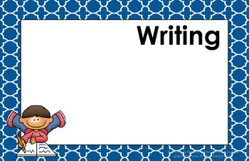 11x17 Moroccan Tile Daily Learning Targets Bulletin Board Set