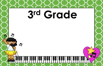 11x17 Moroccan Tile Daily Learning Targets Bulletin Board Set MUSIC