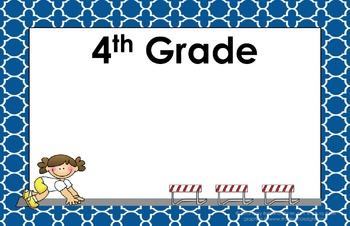 11x17 Moroccan Tile Daily Learning Targets Bulletin Board Set PHY ED