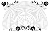 11x17 Printable Genealogy Fan Chart, Decorative Floral Design