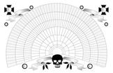 11x17 Printable Genealogy Fan Chart, Decorative Skull Design