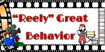 """11x17 Printable Hollywood Themed """"Reely Great Behavior"""" Ch"""