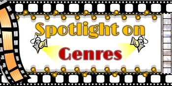 """11x17 Printable Hollywood Themed """"Spotlight on Genres"""" Poster"""